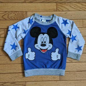 H&M Disney Mickey Mouse Thumbs Up Sweat Shirt